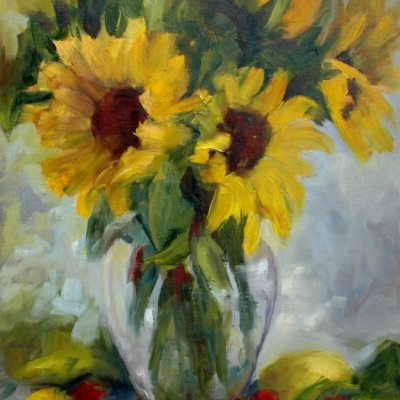 Sunflowers & Cherries