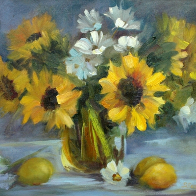 Sunflowers with Lemons